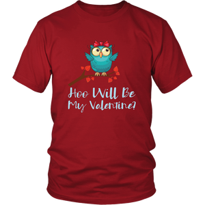 Valentine Owl Cute Valentine's Day Tshirt Matching Couples Shirts - Hundredth Monkey Tees