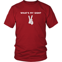 Load image into Gallery viewer, Peace Sign Astrology Bar Humor Funny Tshirt Mens Womens - Hundredth Monkey Tees