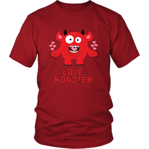 Love Monster Shirt Valentine's Day Tshirt Men Women Adults - Hundredth Monkey Tees