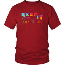 Load image into Gallery viewer, Keep It Weird Funny Shirt Be Different Unique Rainbow Tshirt - Hundredth Monkey Tees