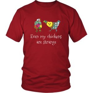 Weird Chickens Tshirt Gift for Farmers Farm Girls Hipsters - Hundredth Monkey Tees