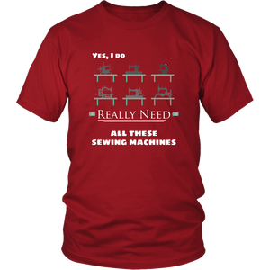 Vintage Sewing Machine Collectors Tshirt Funny Hobby Addict Shirt - Hundredth Monkey Tees