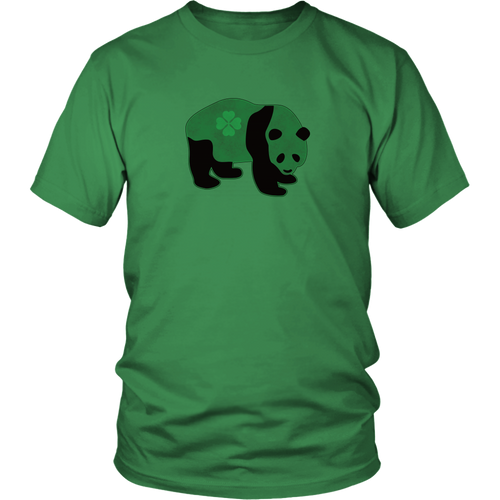 Irish Panda Shirt Green Shamrock Bear St Patrick's Day Tshirt - Hundredth Monkey Tees