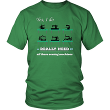 Load image into Gallery viewer, Vintage Sewing Machine Collectors Lovers Funny Humor Tshirt