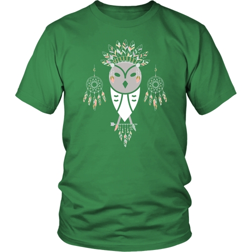 Tribal Barn Owl T-shirt Bohemian Gypsy Dreamcatcher Headdress
