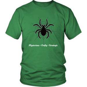 Spider Totem Animal Spirit Insect Tshirt Mysterious Crafty Strategic - Hundredth Monkey Tees