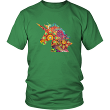Load image into Gallery viewer, Unicorn Colorful Shirt, Fractals, Geometric Design - Hundredth Monkey Tees