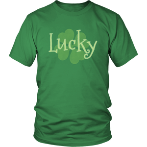 Lucky Green Shirt Shamrock 4 Leaf Clover Charm T-shirt - Hundredth Monkey Tees
