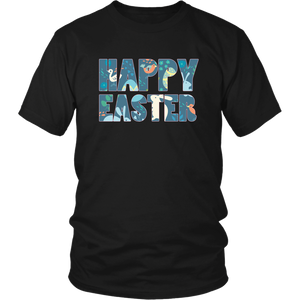 Happy Easter Shirts for Women Bunny Shirt Eggs - Hundredth Monkey Tees
