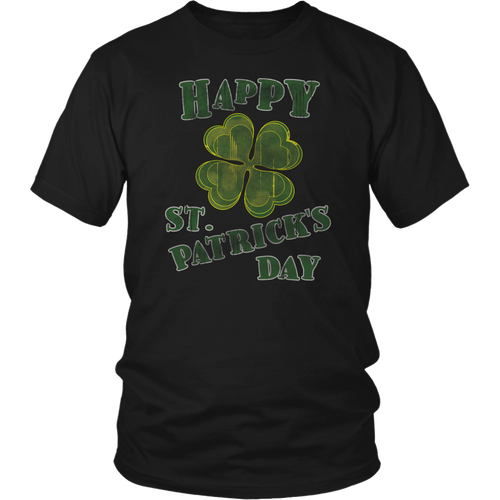 Happy St. Patricks Day Shirt Grunge Distressed Vintage Design - Hundredth Monkey Tees