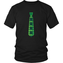 Load image into Gallery viewer, Shamrock Tie T-shirt St Patricks Day Lucky Shirt - Hundredth Monkey Tees