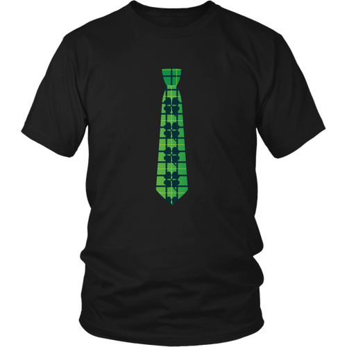 Shamrock Tie T-shirt St Patricks Day Lucky Shirt - Hundredth Monkey Tees