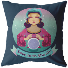 Load image into Gallery viewer, Cute Fortune Teller Throw Pillow Gypsy Bohemian Psychic Home Decor