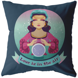 Cute Fortune Teller Throw Pillow Gypsy Bohemian Psychic Home Decor