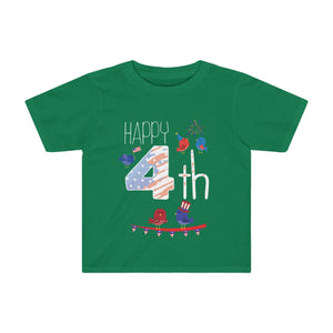 Toddler Happy 4th of July Shirt Independence Day Celebration T-shirt - Hundredth Monkey Tees