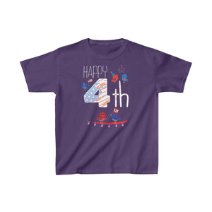 Youth Happy 4th of July Shirt Independence Day Celebration T-shirt - Hundredth Monkey Tees