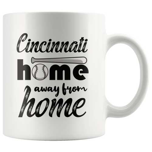 Cincinnati Baseball Coffee Mug Ohio Sports Fans Mug - Hundredth Monkey Tees
