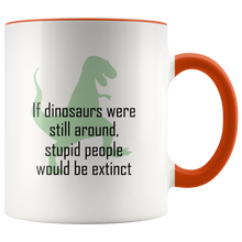 Load image into Gallery viewer, Funny Dinosaurs Extinct Coffee Mug - Hundredth Monkey Tees