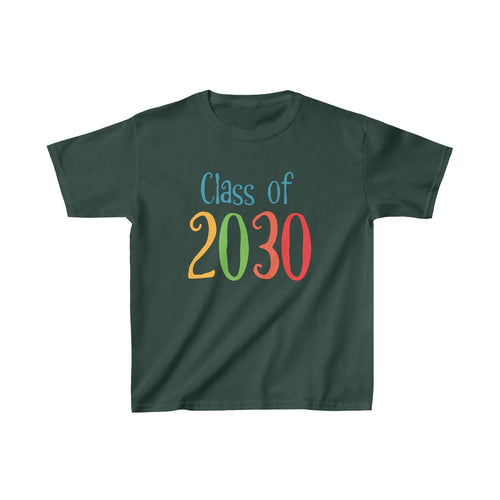 Youth Shirt Class of 2030 Graduation Boys Girls Grade School Kids - Hundredth Monkey Tees