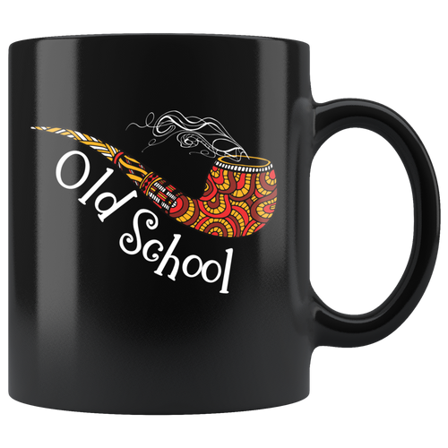 Old School Smoking Pipe Coffee Mug - Hundredth Monkey Tees
