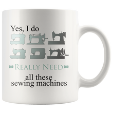 Load image into Gallery viewer, Retro Sewing Machine Collectors Coffee Mug Funny Hobby Addict Gift - Hundredth Monkey Tees