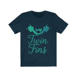 Twin Fins Mermaid T-shirt Cute BFF Best Friends Shirt - Hundredth Monkey Tees