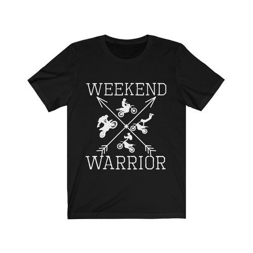 Weekend Warrior Dirt Bike Shirt Motorcycle Men Women T-shirt - Hundredth Monkey Tees