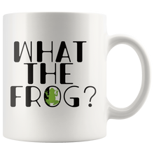 Load image into Gallery viewer, What the Frog Cute Coffee Mug Pond Amphibian Gift