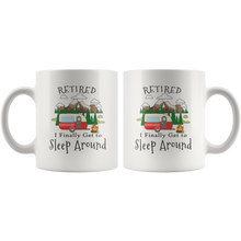 Load image into Gallery viewer, Retired Camping Travel Trailer Funny Retirement Coffee Mug - Hundredth Monkey Tees