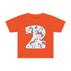 Toddler Shirt Number #2 Years Old Alicorn Unicorn T-Shirt Birthday Two - Hundredth Monkey Tees