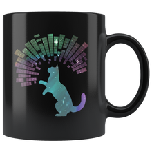 Load image into Gallery viewer, Star Kitty Cosmic Cat Coffee Mug Sky Galaxy Trippy Design - Hundredth Monkey Tees
