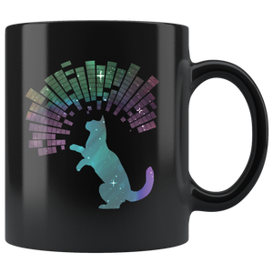 Star Kitty Cosmic Cat Coffee Mug Sky Galaxy Trippy Design - Hundredth Monkey Tees