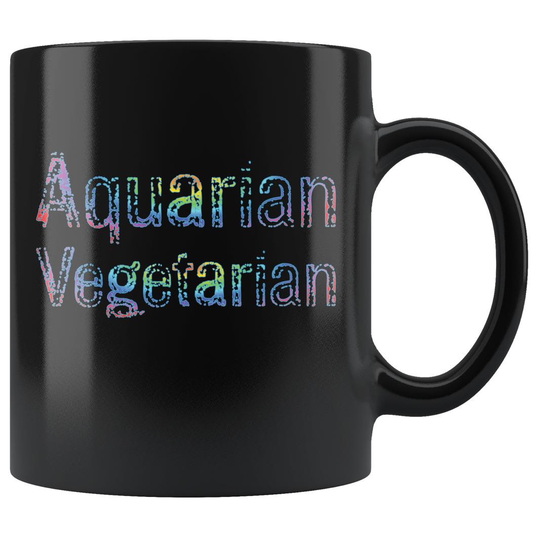 Aquarian Vegetarian Coffee Mug Aquarius Statement Gift Sign Lifestyle - Hundredth Monkey Tees