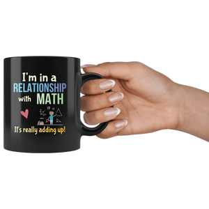 Funny Math Pun Coffee Mug Committed Relationship Teacher Nerd Math Geek - Hundredth Monkey Tees