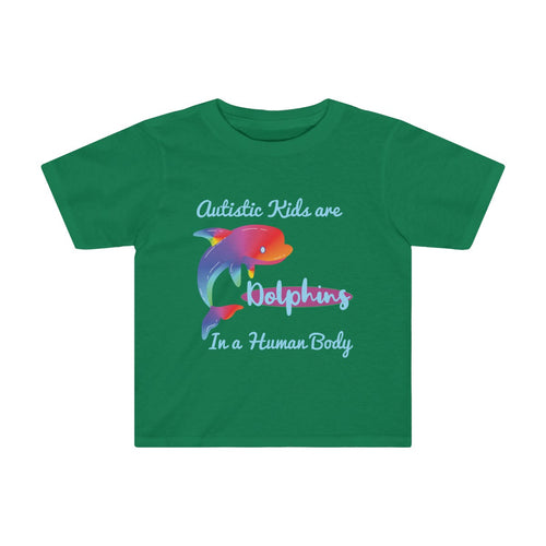 Toddler Autistic Dolphin Shirt Autism Awareness Support Neurodiversity - Hundredth Monkey Tees