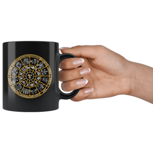 Astrology Coffee Mug Zodiac Wheel Horoscope Signs Gift - Hundredth Monkey Tees