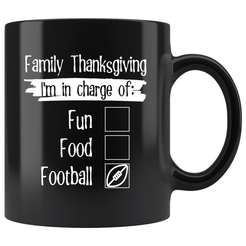 Thanksgiving Matching Family Reunion I'm in Charge of Football - Hundredth Monkey Tees