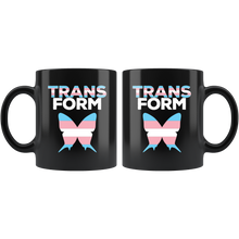 Load image into Gallery viewer, Butterfly Transgender Flag Coffee Mug Transform Pink Blue White - Hundredth Monkey Tees
