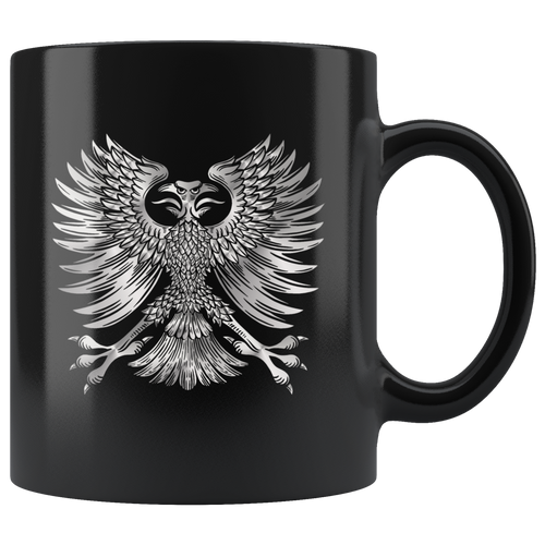 Silver Phoenix Coffee Mug Rise From the Ashes Cool Graphic - Hundredth Monkey Tees