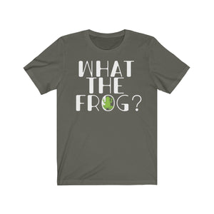What the Frog Cute Tshirt Pond Amphibian Unisex Jersey Short Sleeve Tee - Hundredth Monkey Tees