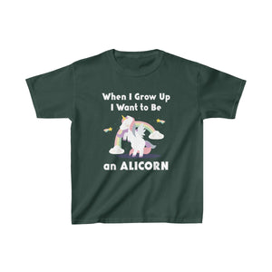 Youth Shirt Alicorn When I Grow Up Unicorn Tee - Hundredth Monkey Tees