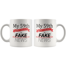 Load image into Gallery viewer, Funny 59th Birthday Gift Coffee Mug Fake News Joke