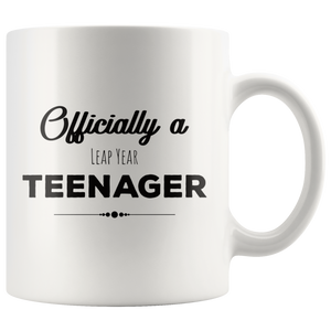 Leap Year Birthday Coffee Mug Official Teenager Funny February 29th Happy 52nd - Hundredth Monkey Tees