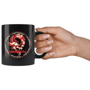 Chinese Zodiac Dragon Coffee Mug Astrology Horoscope Gift - Hundredth Monkey Tees