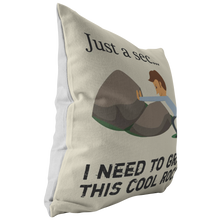 Load image into Gallery viewer, Rock Hunter Mineral Collecting Geologist Funny Throw Pillow - Hundredth Monkey Tees