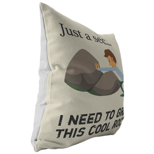 Rock Hunter Mineral Collecting Geologist Funny Throw Pillow - Hundredth Monkey Tees