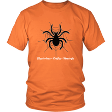 Load image into Gallery viewer, Spider Totem Animal Spirit Insect Tshirt Mysterious Crafty Strategic - Hundredth Monkey Tees