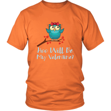 Load image into Gallery viewer, Valentine Owl Cute Valentine's Day Tshirt Matching Couples Shirts - Hundredth Monkey Tees