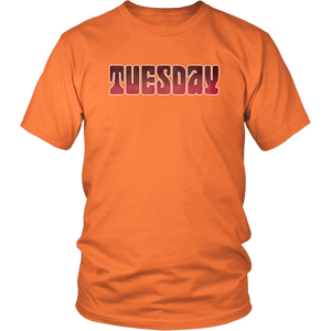 Tuesday Shirt Groovy Days of the Week Tshirt - Hundredth Monkey Tees