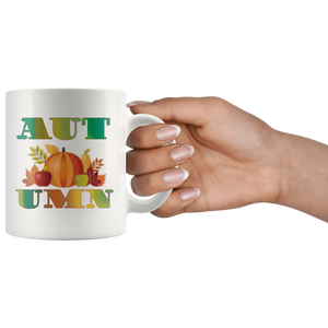 Autumn Coffee Mug Table Decor Gifts Word Art Cup - Hundredth Monkey Tees